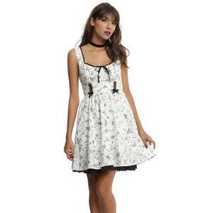 Hot Topic Bug Print Fit & Flare Dress
